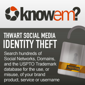 knowem username search social media domains and trademarks